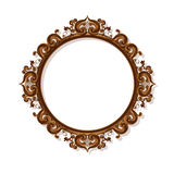 Round carved vintage frame for picture or photo Royalty Free Stock Photos