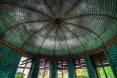 Round Ceiling of an abandoned house. HDR version Royalty Free Stock Photography
