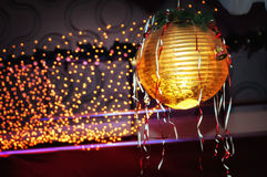 Round ceiling lamp. Christmas decoration stock photography