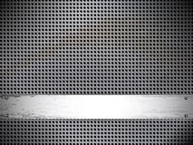 Round cell texture of metal Royalty Free Stock Photos