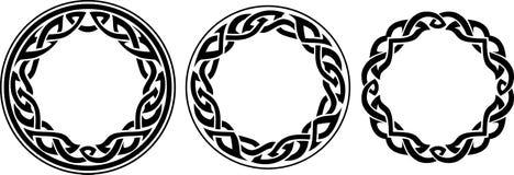 Round Celtic Band Set Royalty Free Stock Image