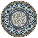 Round Celtic Design. Ancient Celtic magic mandala. Isolated on white, vector illustration royalty free illustration