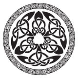 Round Celtic Design. Isolated on white, illustration royalty free illustration