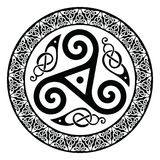 Round Celtic Design. Isolated on white,  illustration Royalty Free Stock Photo