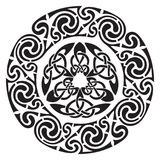 Round Celtic Design. Isolated on white,  illustration Stock Image