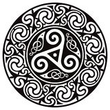 Round Celtic Design. Celtic mandala. Isolated on white, vector illustration Royalty Free Stock Photography