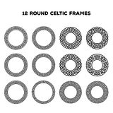 Round Celtic Frames Royalty Free Stock Image