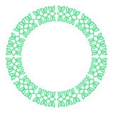 Round celtic knots frame. Traditional medieval frame pattern ill. Ustration. Scandinavian or Celtic ornament as border or frame Royalty Free Stock Image