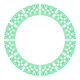 Round celtic knots frame. Traditional medieval frame pattern ill. Ustration. Scandinavian or Celtic ornament as border or frame Stock Illustration