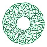 Round celtic knots frame. Traditional medieval frame pattern illustration. Scandinavian or Celtic ornament as border or frame Stock Illustration