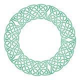 Round celtic knots frame. Traditional medieval frame pattern illustration. Scandinavian or Celtic ornament as border or frame Stock Image