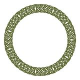 Round celtic knots frame. Traditional medieval frame pattern illustration. Scandinavian or Celtic ornament as border or frame Royalty Free Stock Photography