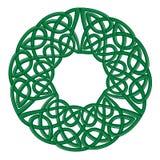Round celtic knots frame. Traditional medieval frame pattern illustration. Scandinavian or Celtic ornament as border or frame Royalty Free Stock Image