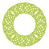 Round celtic knots frame. Traditional medieval frame pattern illustration. Scandinavian or Celtic ornament as border or frame Stock Photo