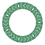 Round celtic knots frame. Traditional medieval frame pattern illustration. Scandinavian or Celtic ornament as border or frame Stock Photography
