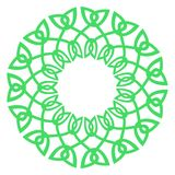 Round celtic knots frame. Traditional medieval frame pattern ill. Ustration. Scandinavian or Celtic ornament as border or frame Stock Photos