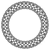 Round celtic knots frame. Traditional medieval frame pattern ill. Ustration. Scandinavian or Celtic ornament as border or frame Royalty Free Stock Images