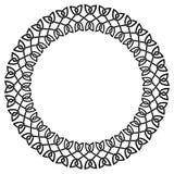 Round celtic knots frame. Traditional medieval frame pattern ill. Ustration. Scandinavian or Celtic ornament as border or frame Vector Illustration