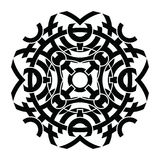 Vector ornament, decorative Celtic knots and curls. Round Celtic Ornament Intertwined vector illustration. decorative Celtic knots and curls Royalty Free Stock Photos
