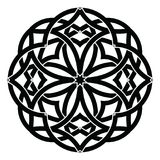 Vector ornament, decorative Celtic knots and curls. Round Celtic Ornament Intertwined vector illustration. decorative Celtic knots and curls Stock Images