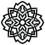 Vector ornament, decorative Celtic knots and curls. Round Celtic Ornament Intertwined vector illustration. decorative Celtic knots and curls Royalty Free Stock Photography