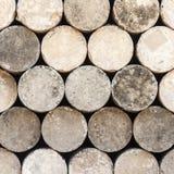 Round cement pole. Stock Photo