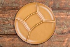 Round ceramic plate Stock Image