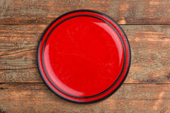 Round ceramic plate Royalty Free Stock Images
