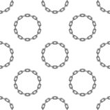 Round chain background. royalty free illustration