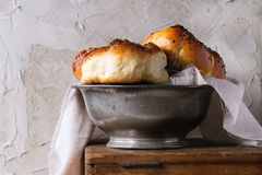 Round Challah bread Royalty Free Stock Images