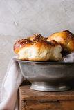 Round Challah bread Stock Photo