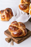 Round Challah bread Royalty Free Stock Photography