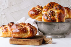 Round Challah bread Royalty Free Stock Photos