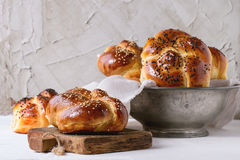 Round Challah bread Stock Photos