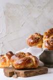 Round Challah bread Stock Image