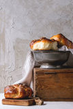Round Challah bread Stock Images