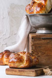 Round Challah bread Royalty Free Stock Image
