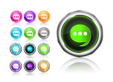 Round Chat Icon Set Royalty Free Stock Image