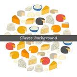 Round cheese background Stock Photo