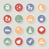 Round children's toys icon set. Vector Royalty Free Stock Photos