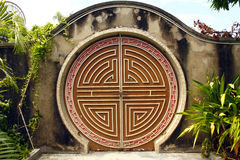 Round Chinese gateway. The Chinese doors are round to symbolise going full circle royalty free stock photo