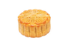 The round Chinese moon cake Stock Photography
