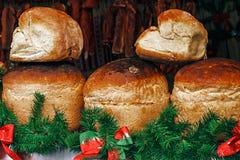 Round chleba dom Zdjęcia Royalty Free