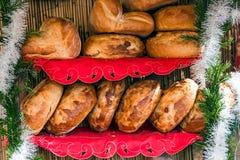 Round chleba dom Obrazy Royalty Free