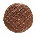 Round chocolate biscuit stock photo