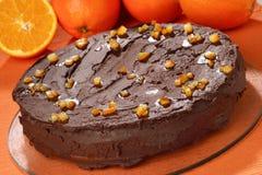 Round chocolate cake Stock Photography