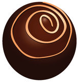 Round chocolate candy Royalty Free Stock Photos