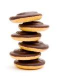 Round chocolate cookies Stock Photos