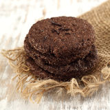 Round chocolate cookies Royalty Free Stock Image