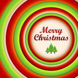 Round christmas background and greeting card. Stock Photo